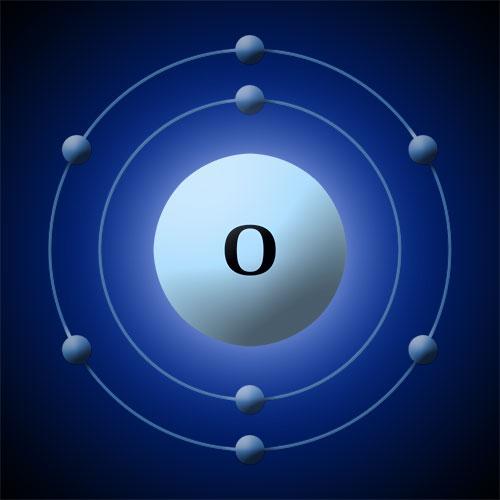 atom oksijen